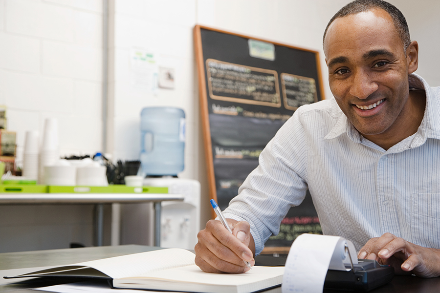 Self-employed African American accountant